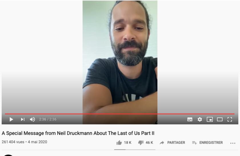 TLOU Druckmann ratio like dislike
